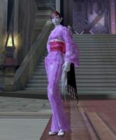 薄紫の浴衣