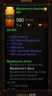 Blackthorne's Notched Belt